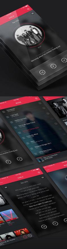 MUSE Music App Concept Design by Nunasonmat SEO