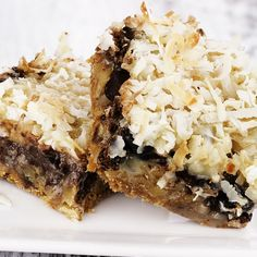 This is a very yummy recipe for coconut chocolate chips squares.. Coconut Chocolate Chip Squares Recipe from Grandmothers Kitchen.