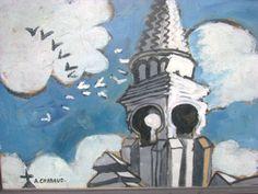 Auguste CHABAUD (1882-1955)  le clocher de Tarascon