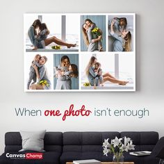 Make your own canvas photo collage with CanvasChamp. Collage Canvas Prints - Use your favorite photos to create a high quality Collage Canvas. Photo Canvas, First Photo, Champs, Your Photos, Collage, Template, Canvas Prints, Create, Easy