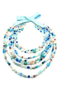 AMBAR STUDIO is a Romanian based womenswear label, born out of the love for design, craftmanship, quality and detail Necklace Designs, Silver Beads, Santorini, Agate, Beaded Necklace, Sculpture, Contemporary, Pearls, Stone