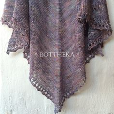 ENGLISH - beaded, knitted Precious Purple Rain Shawl with my special Pearl crochet stitch (for video tutorial contact me) Crochet Stitches, Crochet Hooks, Fingering Yarn, Beading Needles, Triangle Shape, Purple Rain, Stitch Markers, Needle And Thread, Ford