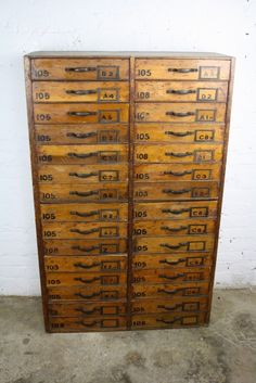 Vintage haberdashery solid drawer chest