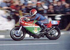 Tony Rutter op de Ducati Pantah met 583cc kit, TT van Man 1981.