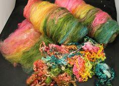 Hand carded batt with teeswater and masham wool
