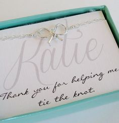 Sweet bow bracelets. The perfect bridesmaid gift! Well let's be honest it caught my eye because it say's my name ;D
