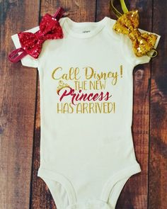 Baby Girl Clothes, Call Disney The New Princess Has Arrived! Bodysuit The post Baby Girl Clothes, Call Disney The New Princess Has Arrived! Bodysuit appeared first on Camping. So Cute Baby, Cute Baby Clothes, Cute Babies, Cute Onesies For Babies, Babies Clothes, Baby Clothes For Girls, Diy Clothes, Clothes Shops, Clothes Sale