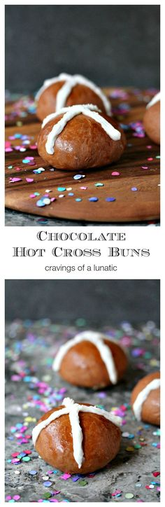 These Chocolate Hot Cross Buns are so simple to make. These are my daughter's personal favourite. She requests them as often as possible.
