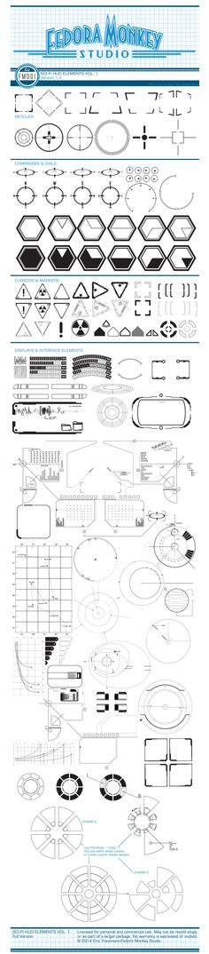 Vector Art and Design by http://keithhoffart.weebly.com - STOCK VECTOR ART: Sci-fi HUD elements on Behance