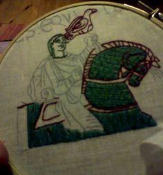 fragment tkaniny z Bayeaux