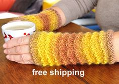 Mitts in wool knitted handbags, gloves in pure wool, warmer wrist without fingers, various colors, free shipping, free shipping