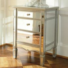 Jcp Home Collection Versailles Mirrored Storage Chest (silver)