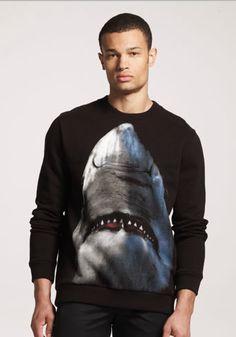 Givenchy Pre-Fall 2012 Men's Shark T-Sweatshirt