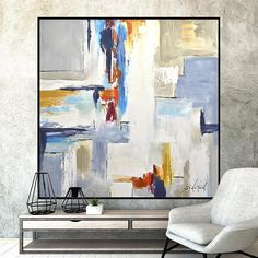 Large Art Original Abstract Painting Colorful Artwork Oil