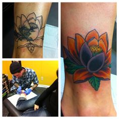 My lotus flower tattoo cover up