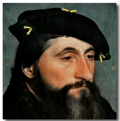 Hans Holbein the Younger (1497-1543) - Portrait of Duke Anton of Lotharingen.Circa 1543.