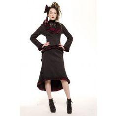 447d729cc2d Jupe Traine Gothique Victorien Ruby Steampunk Jacket