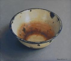 Diane McLean Rusted bowl oil on board. Oil Painting Tips, Fruit Painting, Painting & Drawing, Still Life 2, South African Artists, Realistic Paintings, Painting Still Life, Enamel Paint, Wabi Sabi