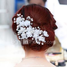 Cheap set hair, Buy Quality lace flower directly from China hair set Suppliers: Romantic Wedding Hair Jewelry Hand Made Lace Flower Rhinestone Crystal Pearl Wedding Bridal Hairpins Set Hair pins LB Romantic Wedding Hair, Bridal Hair Pins, Lace Flowers, Hair Jewelry, Crystal Rhinestone, Wedding Hairstyles, Crystals, Handmade, Romantic