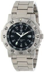 Smith & Wesson Men's SWW-357-SS Aviator Tritium H3 Stainless Steel Strap Watch