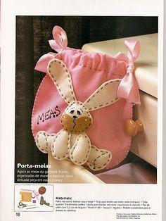 Ceci EuQfiz: Saquinho porta - meias coelhinho