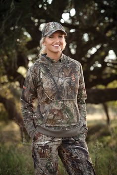 #SHE Outdoor Apparel Vintage in Realtree AP Camo Hoodie #realtreecamo #womenhunting