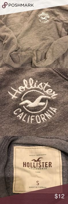 Hollister Sweatshirt Worn, from hollister, size small Hollister Tops Sweatshirts & Hoodies