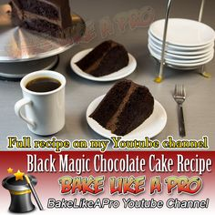 My Black Magic Chocolate Cake Recipe - click the link to see this video recipe on my Youtube channel Fudge Recipes, My Recipes, Baking Recipes, Cake Recipes, Magic Chocolate Cake, Chocolate Recipes, Cake Videos, Food Videos, Black Magic Chocolates
