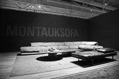 Montauk Sofa booth IDS Toronto 2018. Modular sectional Heather sofa featured. #montauksofa #idstoronto montauksofa.com
