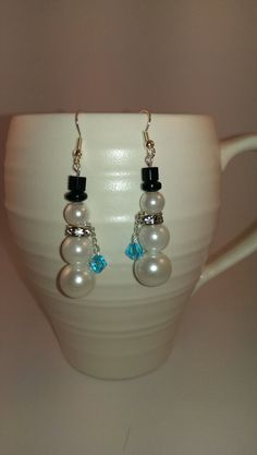 Snowman Earrings on Etsy, $8.00