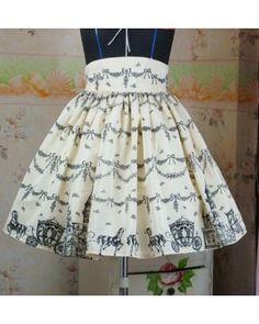Dream of Lolita Snow Castle Skirt #lolitadress  #skirt