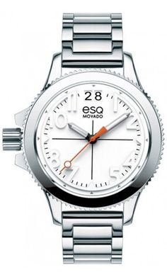 "ESQ by Movado ""Fusion"" woman's watch. Stainless Steel Quartz Movement. $495 at DarcysFineJewelers.com"