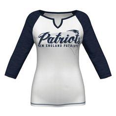 aa02a4c2604 New England Patriots Majestic Women s Victory Is Sweet IV Three-Quarter Raglan  Sleeve T-