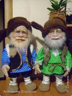 Куклы Шитьё Старички- домовички Капрон Мех Ткань фото 3