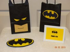 Batman Birthday Set Invitation Favor/Candy by PartyTimeIndustries, $28.00