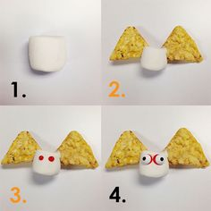 "how to make halloween ""snack bats"""