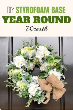 Wreaths are always a beautiful addition to your front door but they don't always have to be put up just for the holidays. This year round wreath is absolutely stunning and is sure to make your front door the envy of the neighborhood. Learn how to make it yourself this summer with this DIY tutorial. Check out the video and full instructions nstructions from Julie of Southern Charm Wreaths! Wire Wreath Forms, Wreath Making Supplies, Year Round Wreath, Spring Projects, Floral Centerpieces, Floral Arrangements, Trendy Tree, Diy Wreath, Summer Wreath