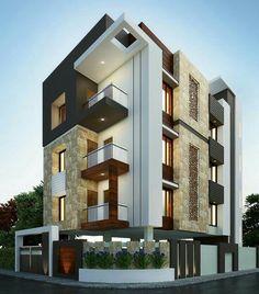 Exterior By, Sagar Morkhade (Vdraw Architecture) Architecture Design, Facade Design, Residential Architecture, Exterior Design, Duplex House Design, House Front Design, Modern House Design, Dream House Exterior, Facade House