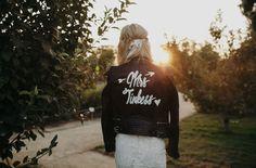 leather bridal jacket