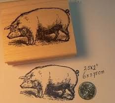 Pig stamper for bags and decor and invitations