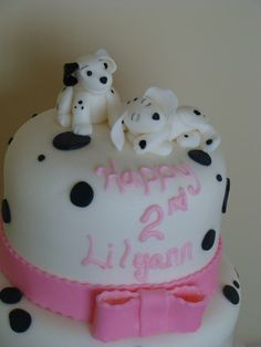 101 Dalmation Puppies inspired fondant cake topper by HoneysGoods