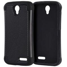 DW Grippy Hybrid ZTE Grand X3 / Warp 7 Case - Black