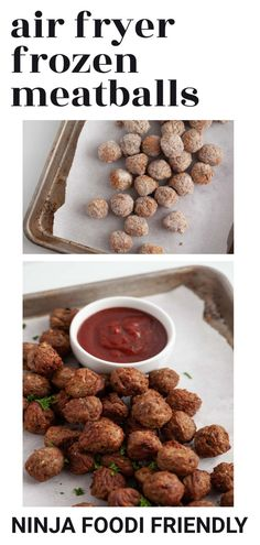 Air Fryer Frozen Meatballs! This easy method is a great way to cook frozen meatballs at the perfect time and temperature in the air fryer. You'll be able to cook them fast whether they are raw or precooked to make a great appetizer or main course.