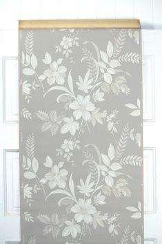 1940s Floral Vintage Wallpaper