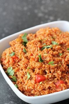 The perfect side dish to any Mexican recipe: Easy Mexican Salsa Rice! It comes together in minutes and can be made in the microwave. Rice Recipes, Side Dish Recipes, Mexican Food Recipes, Ethnic Recipes, Salsa Rice Recipe, Quick Meals, Freezer Meals, Spanish Rice Recipe, Mexican Salsa
