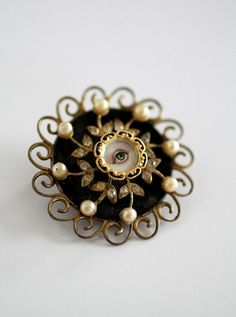 "Victorian ""Lover's Eye"" Brooch."