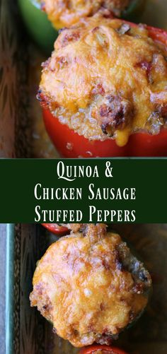 Quinoa and Chicken Sausage Stuffed Peppers. Healthy Make-ahead Dinner recipes. This is one of the best stuffed pepper recipes I've ever made. Great freezer meal too! make ahead paleo lunch Quinoa, Chicken Sausage Recipes, Stuffed Peppers Healthy, Cooking Recipes, Healthy Recipes, Healthy Foods, Healthy Dinners, Cheap Recipes, Skinny Recipes