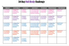 30 day full body challenge - Yahoo Image Search Results