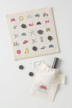 You could buy it at Anthropologie for $48 or make it for super cheap. Good car travel game.