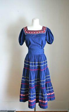 vintage 1950s dress set  PATIO SET 50s 2pc peasant top & by MsTips, $128.00